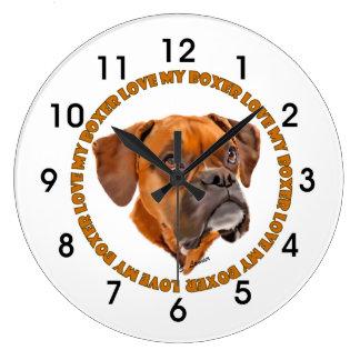 Boxer-HundeLiebe mein Boxer Große Wanduhr