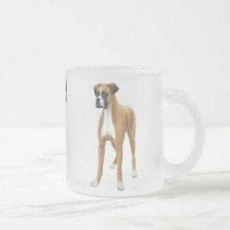Boxer-Hundemattierte GlasTasse Mattglastasse