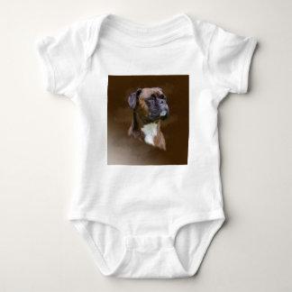 Boxer-HundeÖlgemälde-Kunst-Porträt Baby Strampler