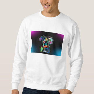 Boxer-HundePop-Kunst-Art für Hundeliebhaber Sweatshirt