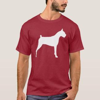 Boxer-HundeSilhouette (weiß) T-Shirt