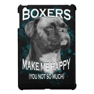 Boxer-Hundetierliebhaber-Kunst-Text iPad Mini Hülle