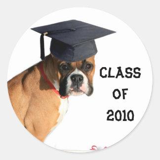 Boxer-Klasse von 2010 graduierten Aufklebern Runder Aufkleber
