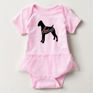 Boxer-Liebe (abgelegte Ohren) Baby Strampler