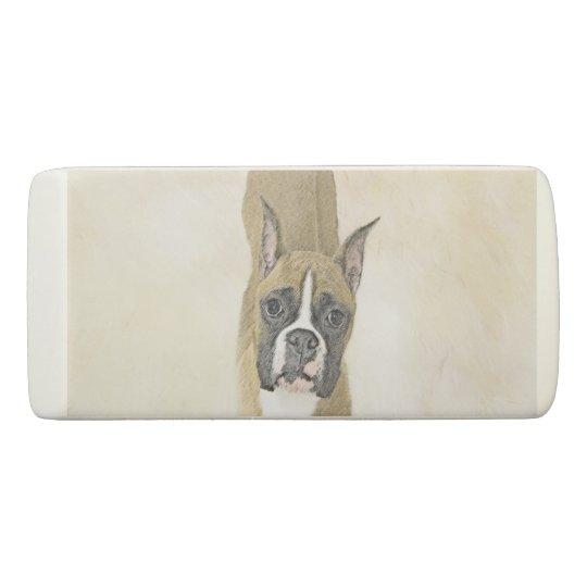 Boxer-Malerei - niedliche ursprüngliche Hundekunst Radiergummi 1