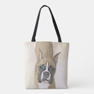 Boxer-Malerei - niedliche ursprüngliche Hundekunst Tasche