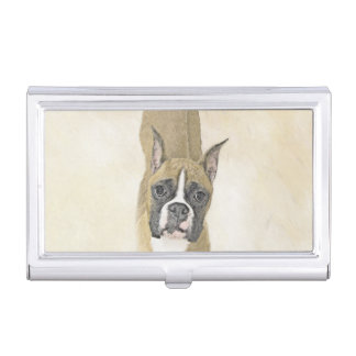 Boxer-Malerei - niedliche ursprüngliche Hundekunst Visitenkarten Etui