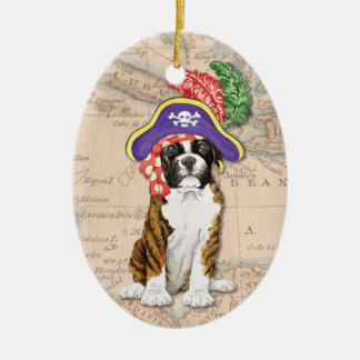 Boxer-Pirat Keramik Ornament