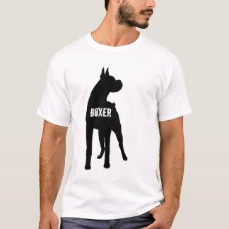 Boxer-Silhouette mit Text (geerntete Ohren) T-Shirt
