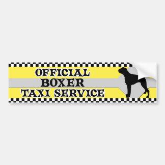Boxer-Taxi-Service-Autoaufkleber