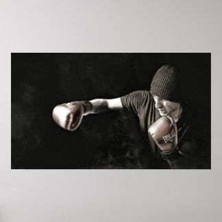 Boxer-Training in den Schatten Poster