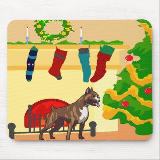 Boxer-Weihnachten Mousepad