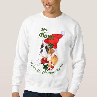 Boxer-Weihnachtsgeschenke Sweatshirt