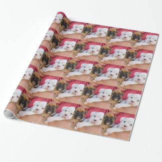 Boxer-Welpen Geschenkpapier