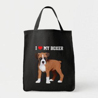 Boxer-Welpen-illustrierte Taschen-Tasche Tragetasche