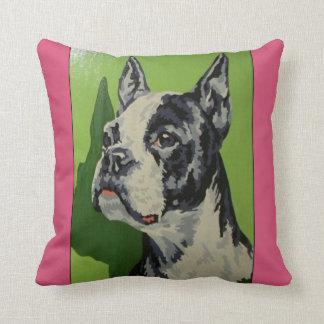 Boxerhundefarbe durch Vintages Kissen der Zahlen