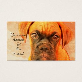 BoxerhundeVisitenkarten Visitenkarte