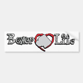 Boxerleben, für den Boxerhundefan Autoaufkleber