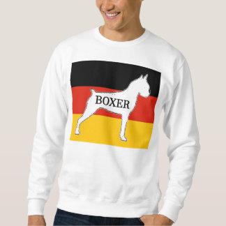 Boxernamenssilo auf Flaggenweiß Sweatshirt