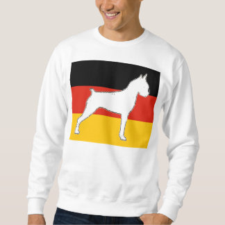 Boxersilo auf Flaggenweiß Sweatshirt