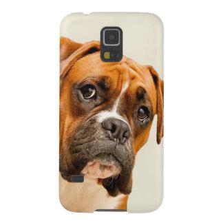 Boxerwelpe auf Elfenbeincremehintergrund Hülle Fürs Galaxy S5