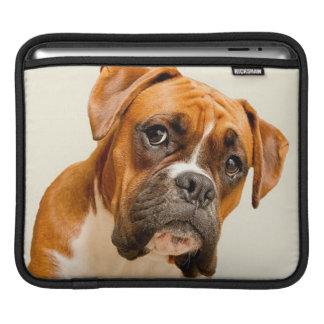 Boxerwelpe auf Elfenbeincremehintergrund Sleeve Für iPads