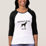 Boxerwiggle-Hintern-Verein-Damen-Baseball-T-Shirt