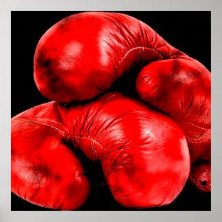 Boxhandschuh-Boxer-Schmutz-Art Poster