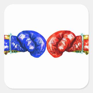 Boxhandschuhe Quadratischer Aufkleber