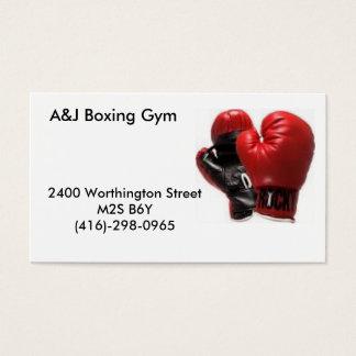 boxinggloves, A&J Verpacken-Turnhalle, 2400 Visitenkarte