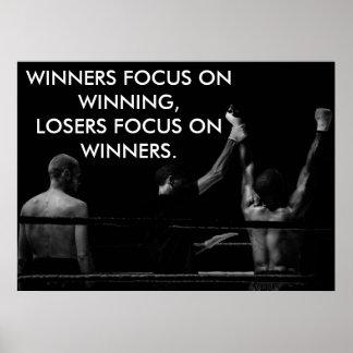 Boxring-motivierend gewinnendes Zitat Poster