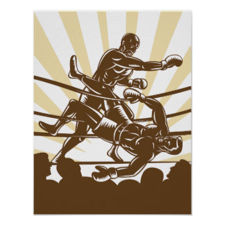 Boxveranstaltungs-Plakat Poster