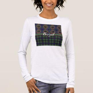 Boyd Clan karierter schottischer Kilt Tartan Langarm T-Shirt