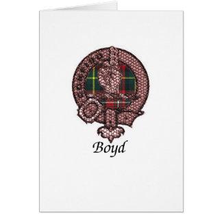 Boyd Clan-Wappen Karte