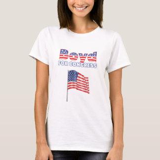 Boyd für Kongress-patriotischen Flagge-Entwurf T-Shirt