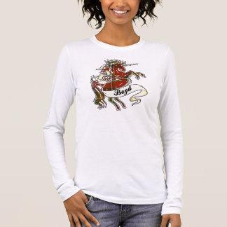 Boyd Tartan-Einhorn Langarm T-Shirt