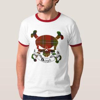 Boyd Tartan-Schädel-Shirt T-Shirt