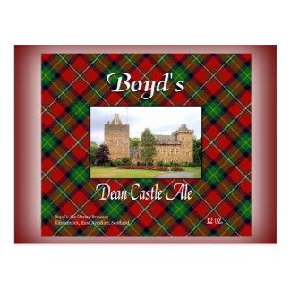 Boyds Dekan Castle Ale Postkarte