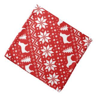 Boykin Spaniel-Silhouette-Weihnachtsmuster-Rot Kopftuch