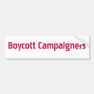 Boykott-Aktivisten Autoaufkleber