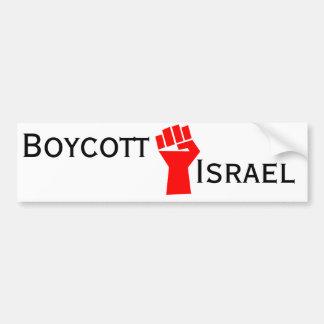 Boykott Israel Autoaufkleber
