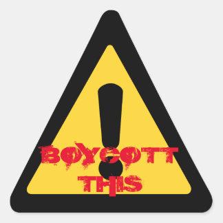 """""""Boykottieren Sie diesen"""" Aufkleber"""