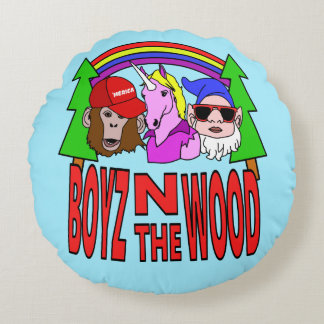 Boyz im Holz Rundes Kissen