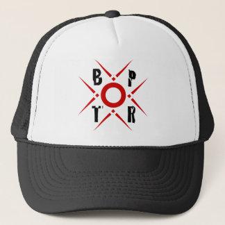 BPTR roter und schwarzer Logo-Hut Truckerkappe