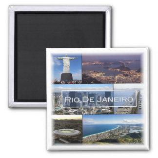 BR * Brasilien - Rio de Janeiro Quadratischer Magnet