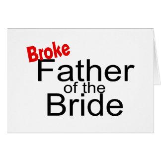 Brach Vater der Braut Karte