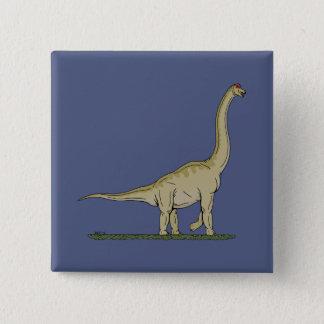 Brachiosaurus Quadratischer Button 5,1 Cm
