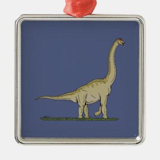 Brachiosaurus Silbernes Ornament