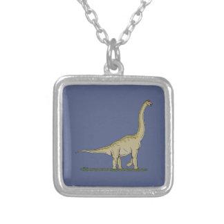 Brachiosaurus Versilberte Kette