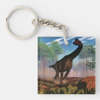 Brachiosaurusdinosaurier - 3D übertragen Schlüsselanhänger